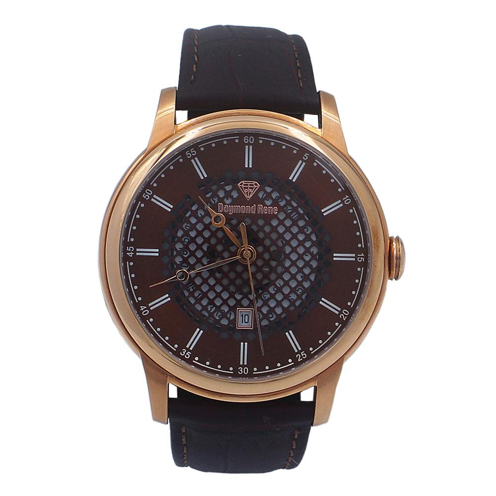 Coffee Rose Gold Leather Watch