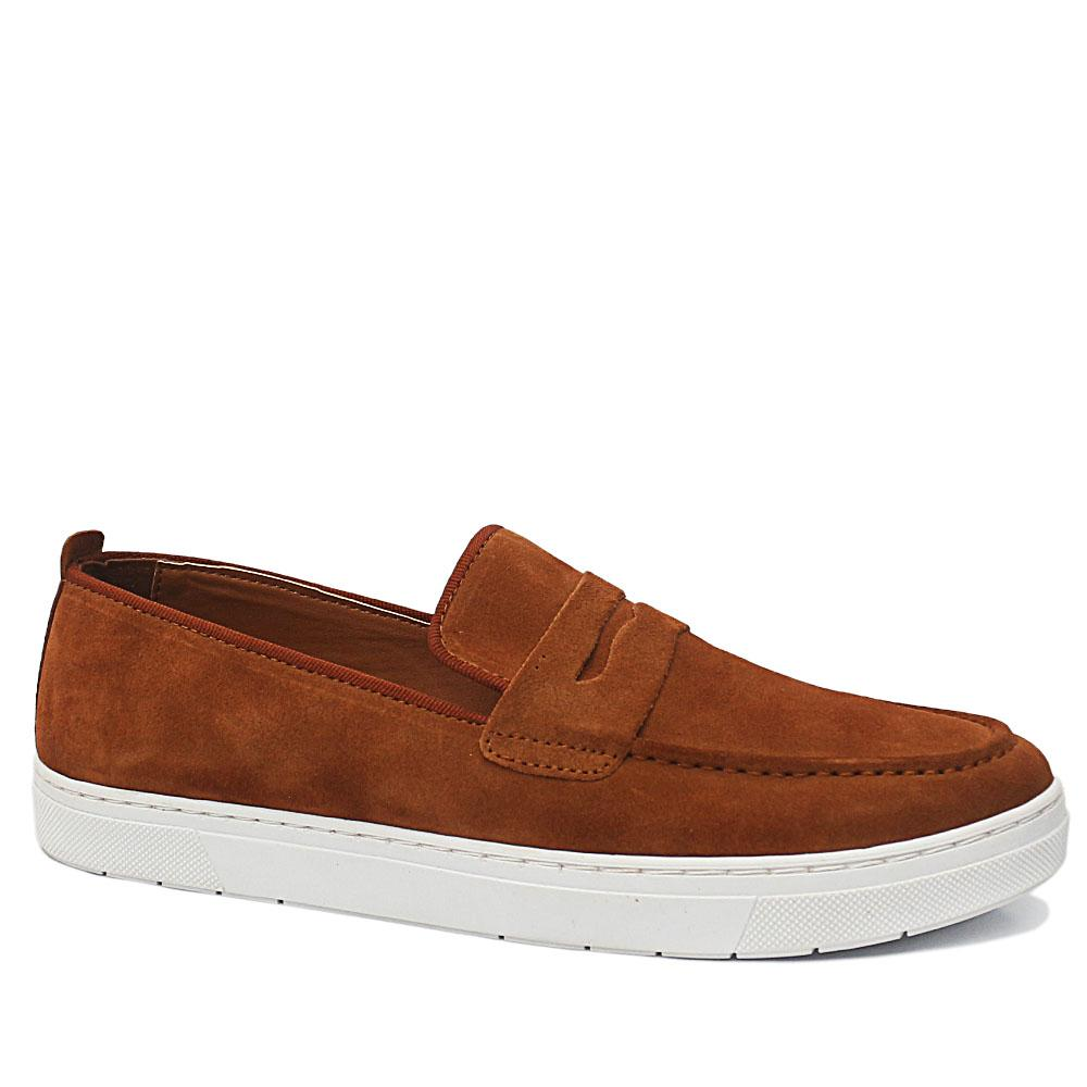 PC Collection Brown Alphonse Suede Leather Sneakers