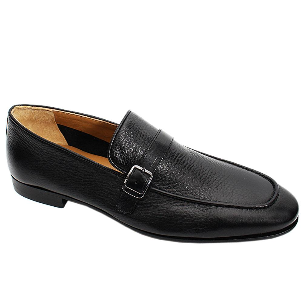 Black Buffalo Italian Leather Men Penny Loafers