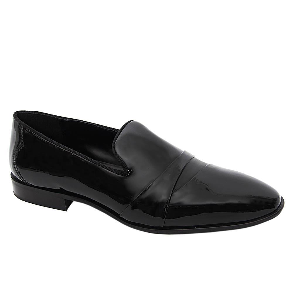 K Geiger Black Jason Patent Leather Loafers