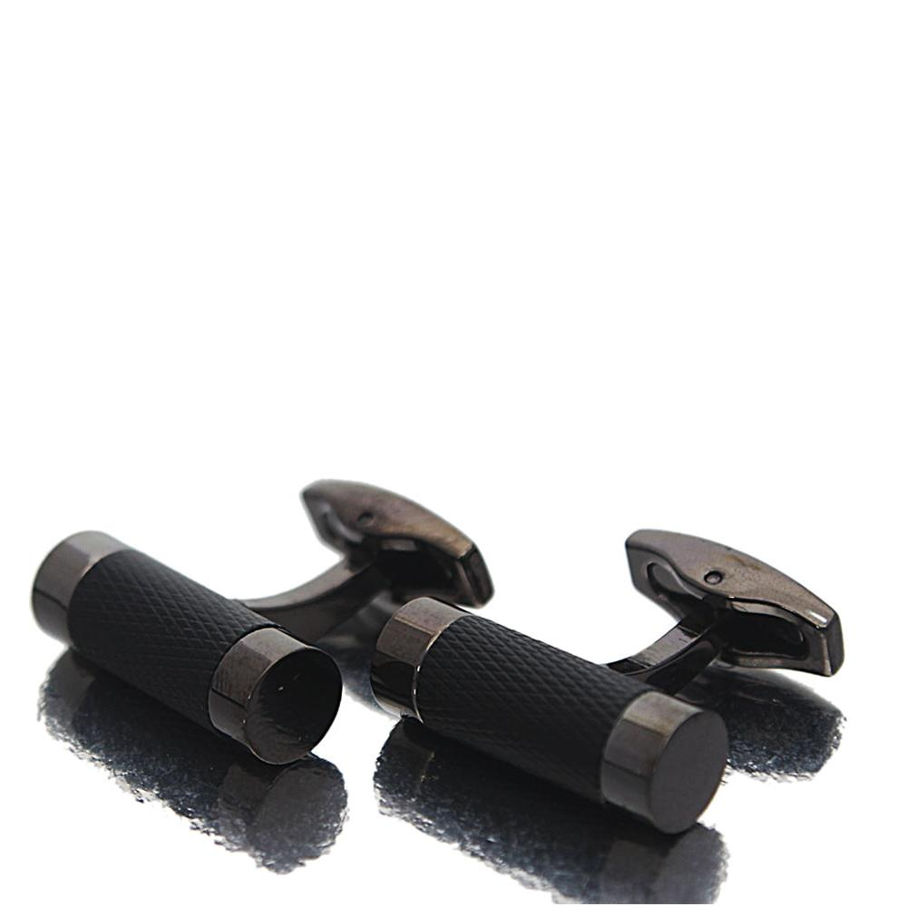 Black Classic Black Band Stainless Steel Cufflinks