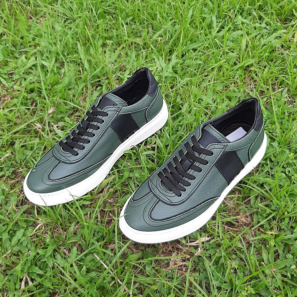 Green Donato Italian Leather Sneakers