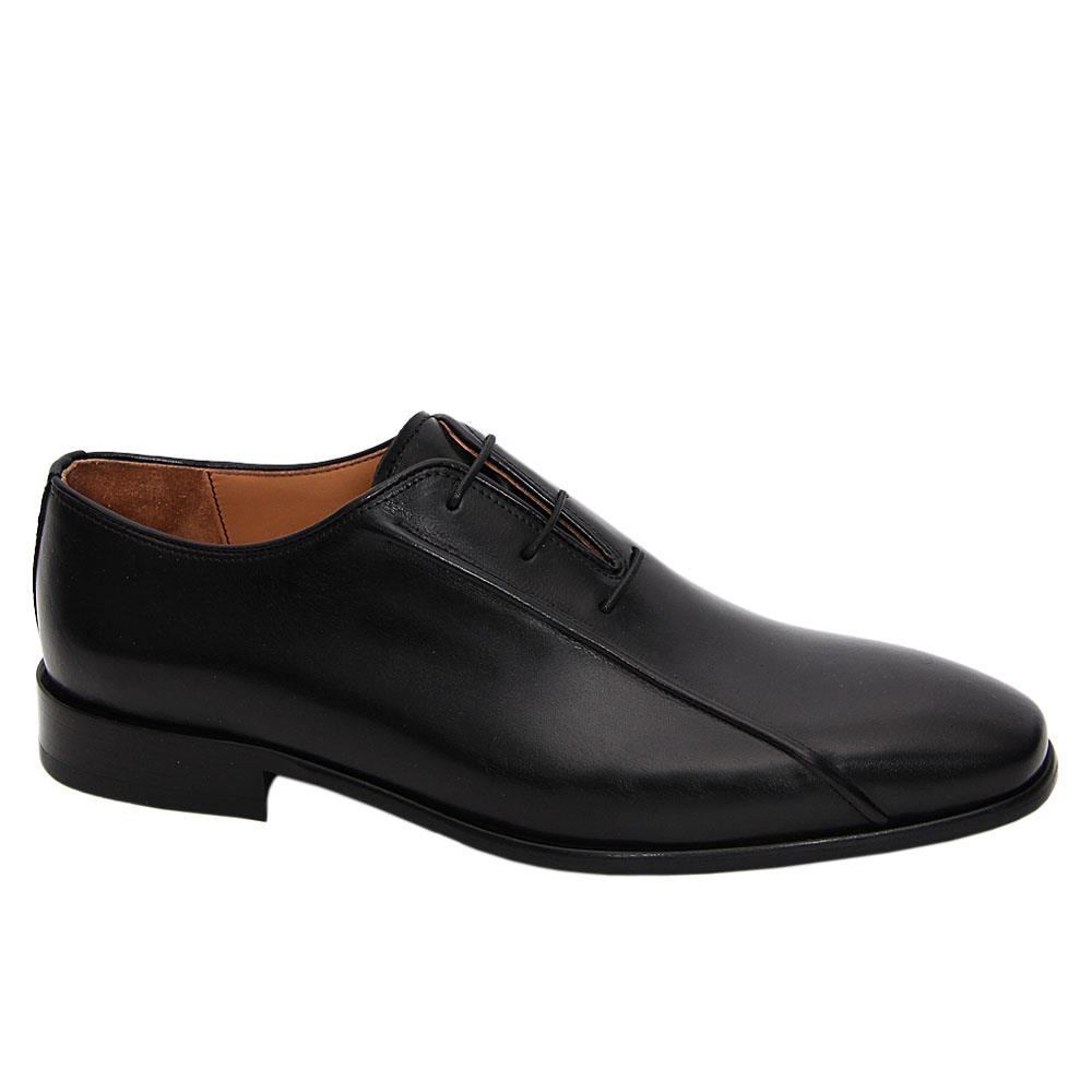 Black Ambogrio Italian Leather Oxford Shoe