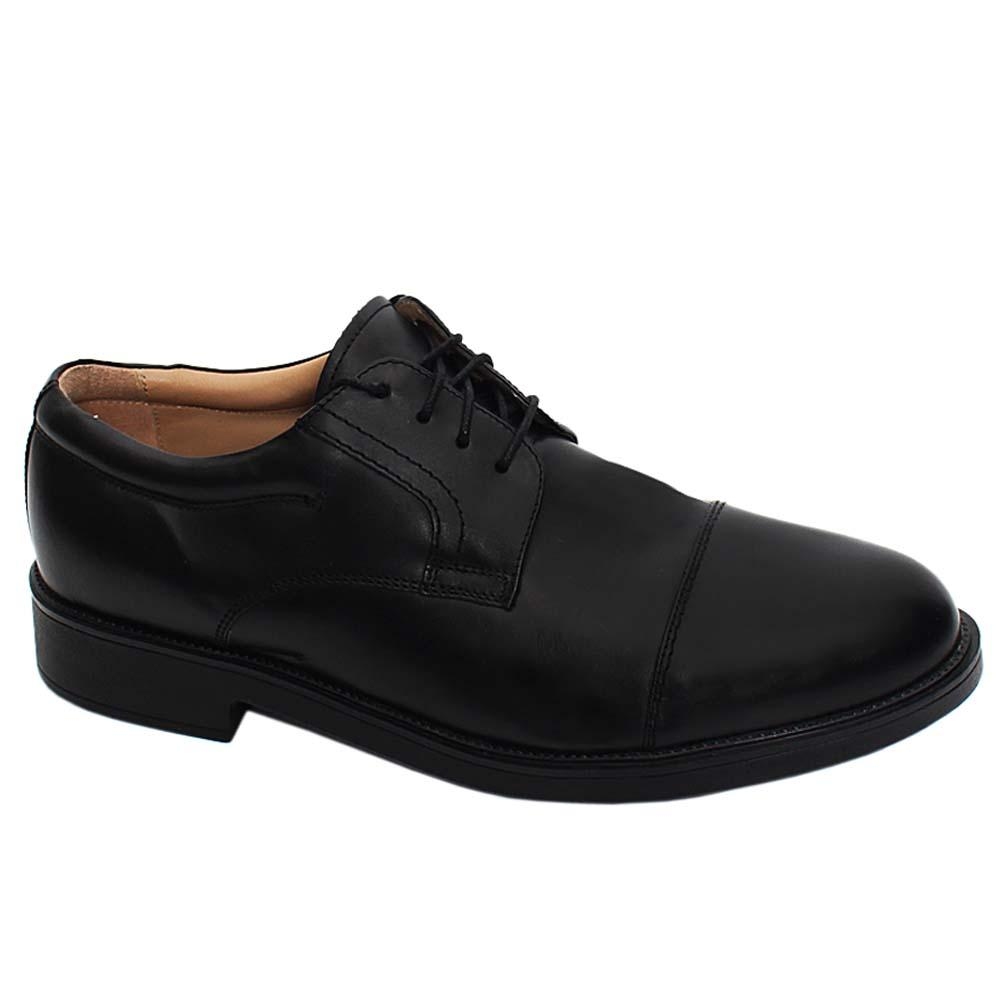 Black Wade Leather Comfort Fit Men Derby Shoe