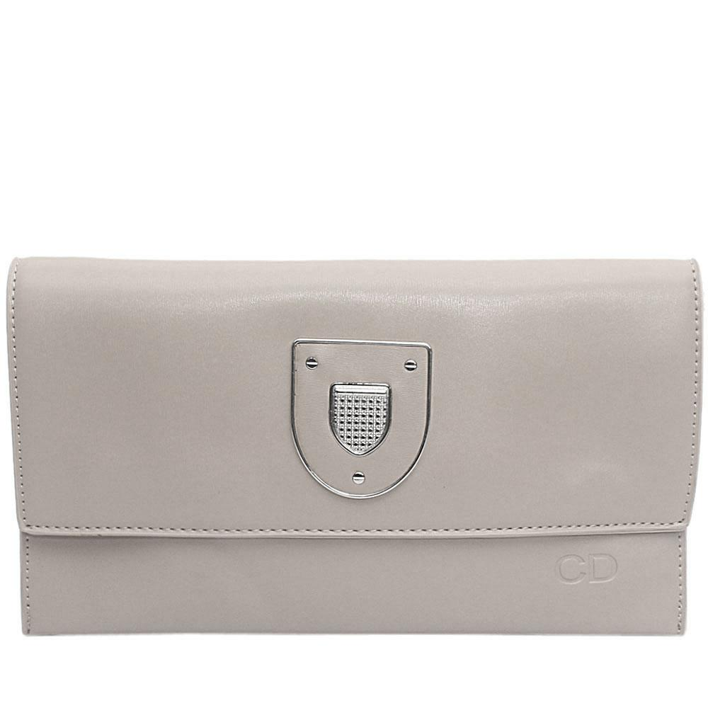 Grey Marshal Leather Flat Purse