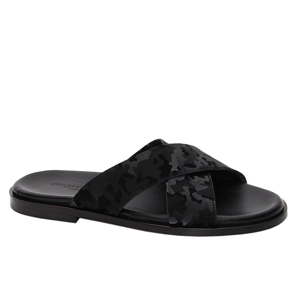 Black Camo Alessandro Italian Leather Slippers