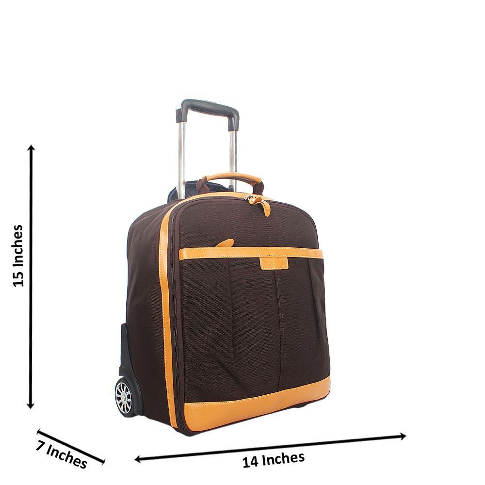 Coffee 15 Inch Cordura Fabric Carry On Hand Luggage