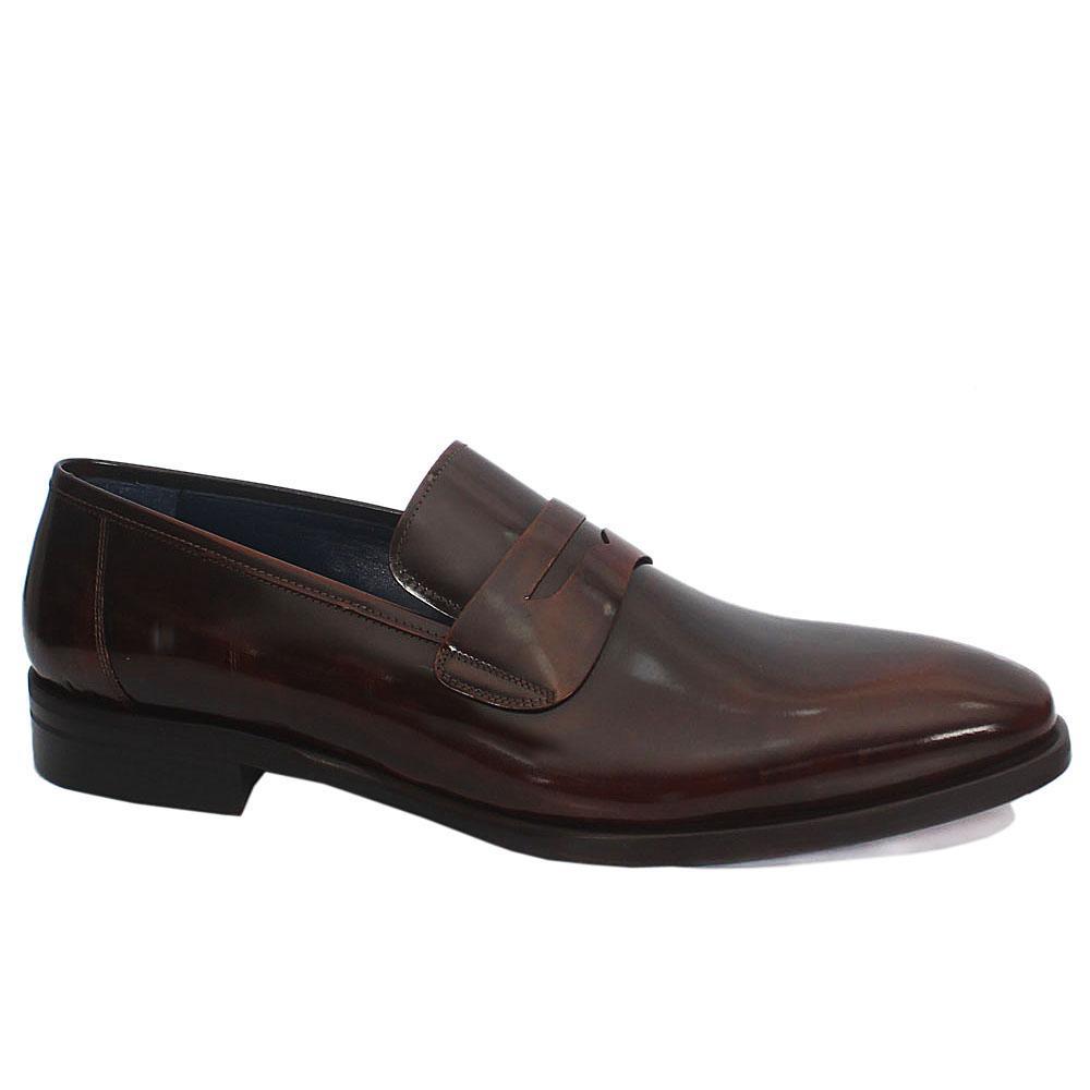 Gen Wine Leather Penny Loafers