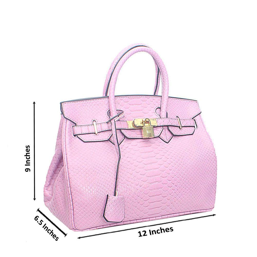 Lilac Miane Snake Tandy Leather Tote Handbag