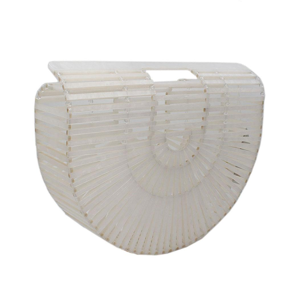 White Ark Acrylic Clutch Purse