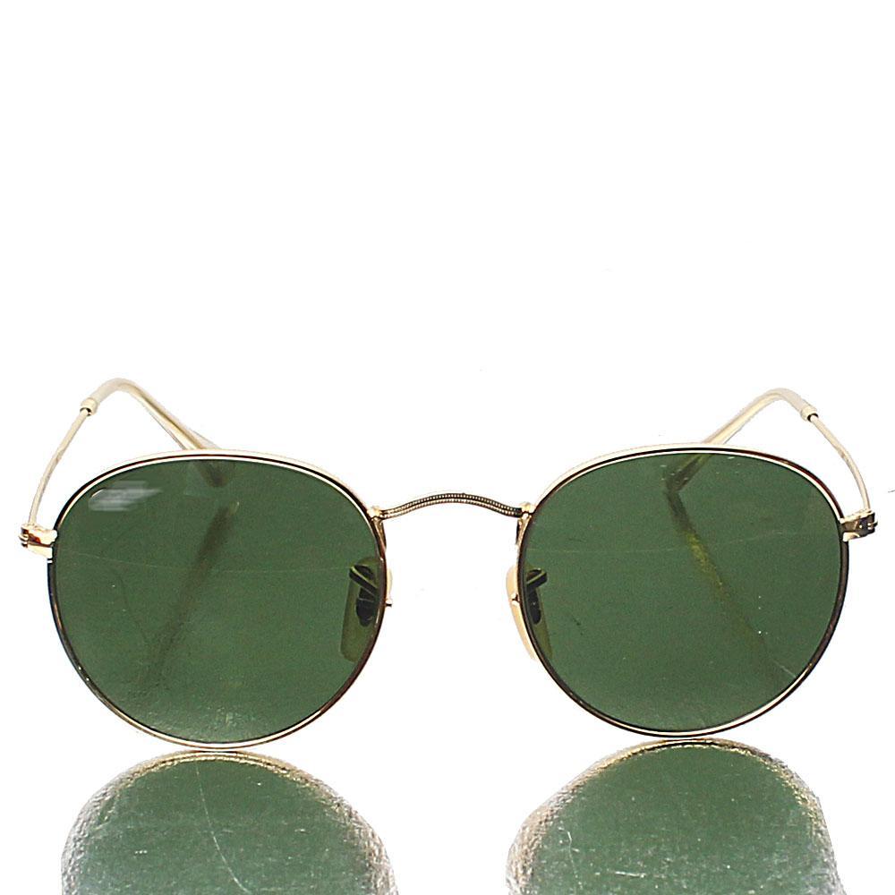 Gold Aviator Pro Green Lens Sunglasses