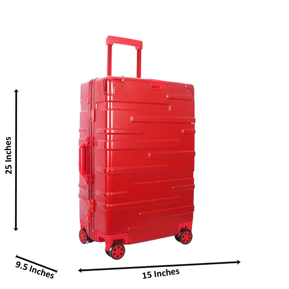 Red 25 inch HardShell Medium Suitcase Wt TSA Lock