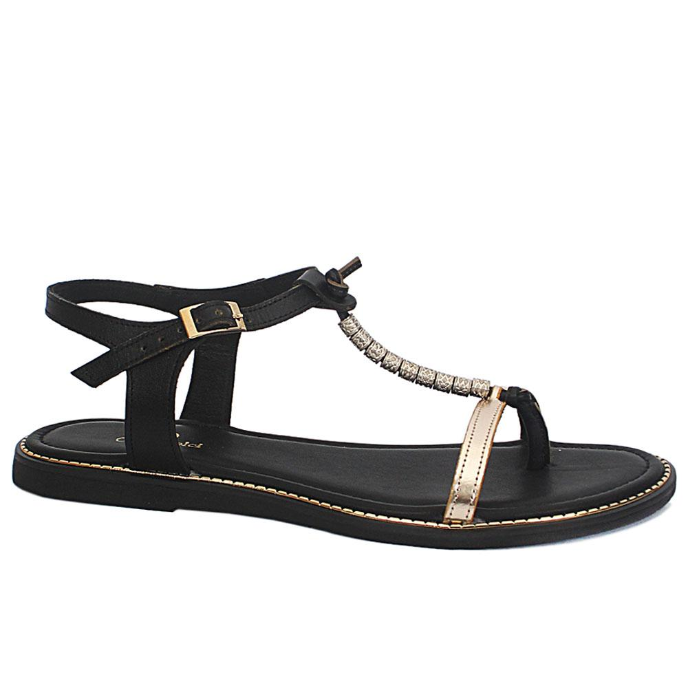 Carlo D Black Summer Troll Sandals