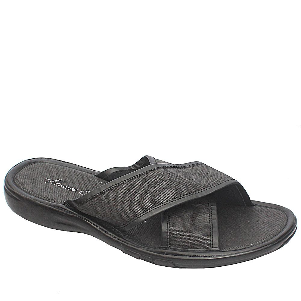 Kenneth Cole Black Fabric Men Slippers