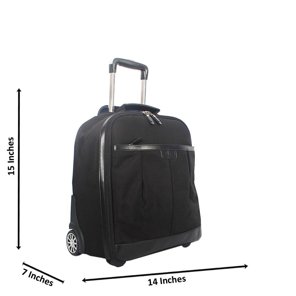 Black 15 Inch Cordura Fabric Carry On Hand Luggage