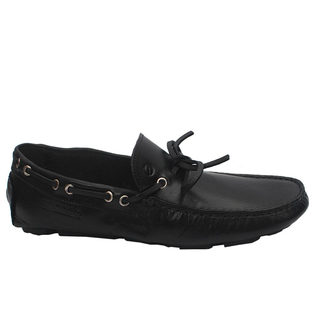 Sz 42 Sco Black Magny Leather Loafers