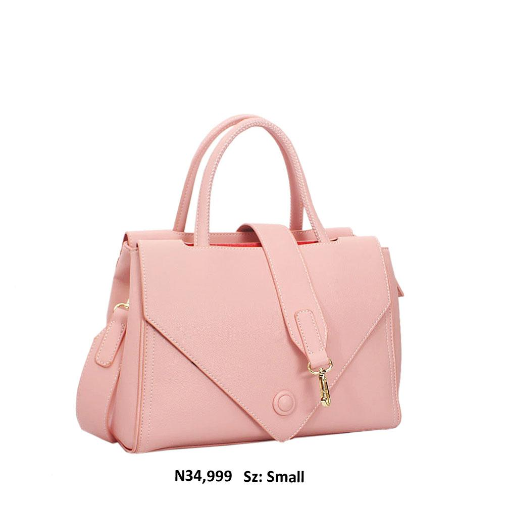 Pink Evie Leather Tote Handbag