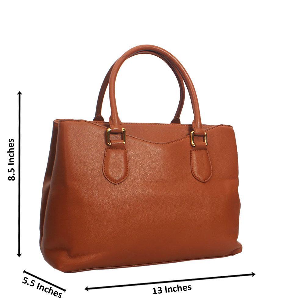 Daphne Brown Smooth Montana Leather Tote Handbag
