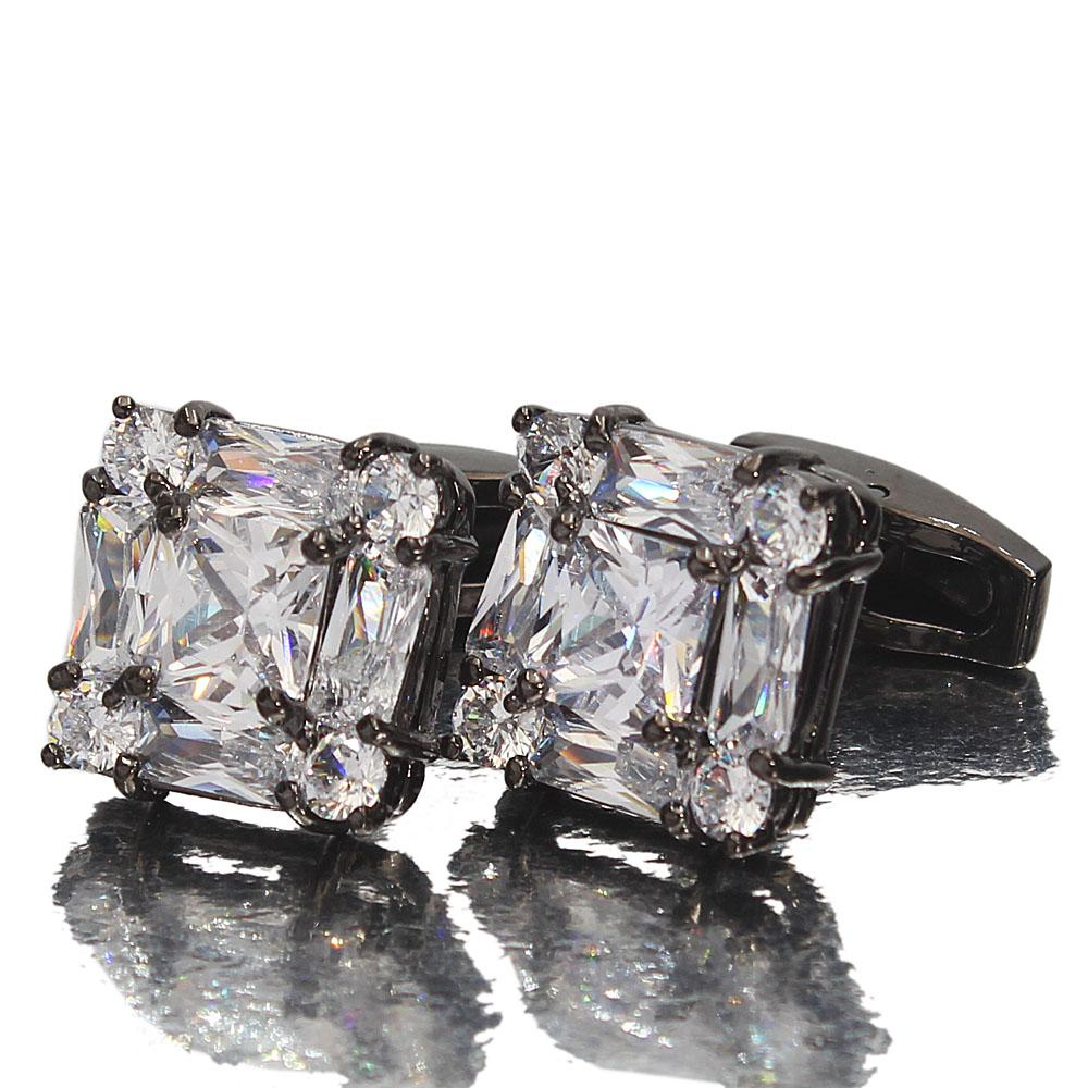 Black Diamond Ice Stainless Steel Cufflinks