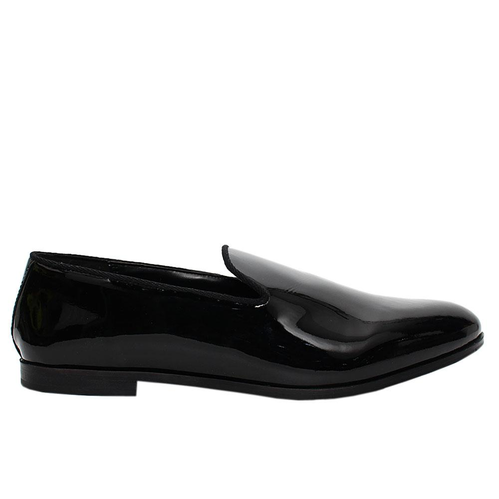 Black Northwood Patent Leather Loafers
