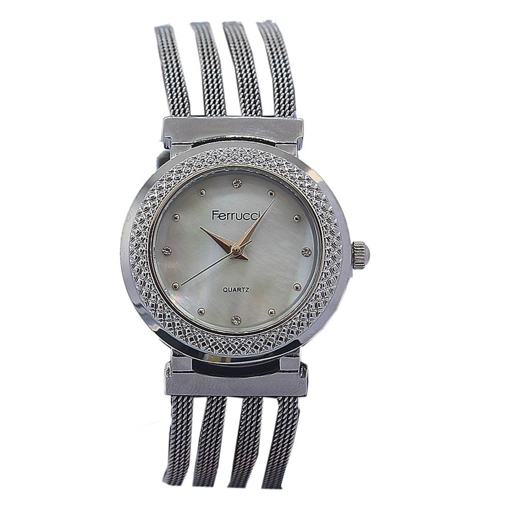 Ferrucci Silver Stainless Mesh Ladies Watch