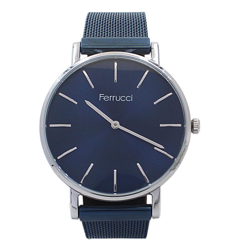 Silver Blue Mesh Watch