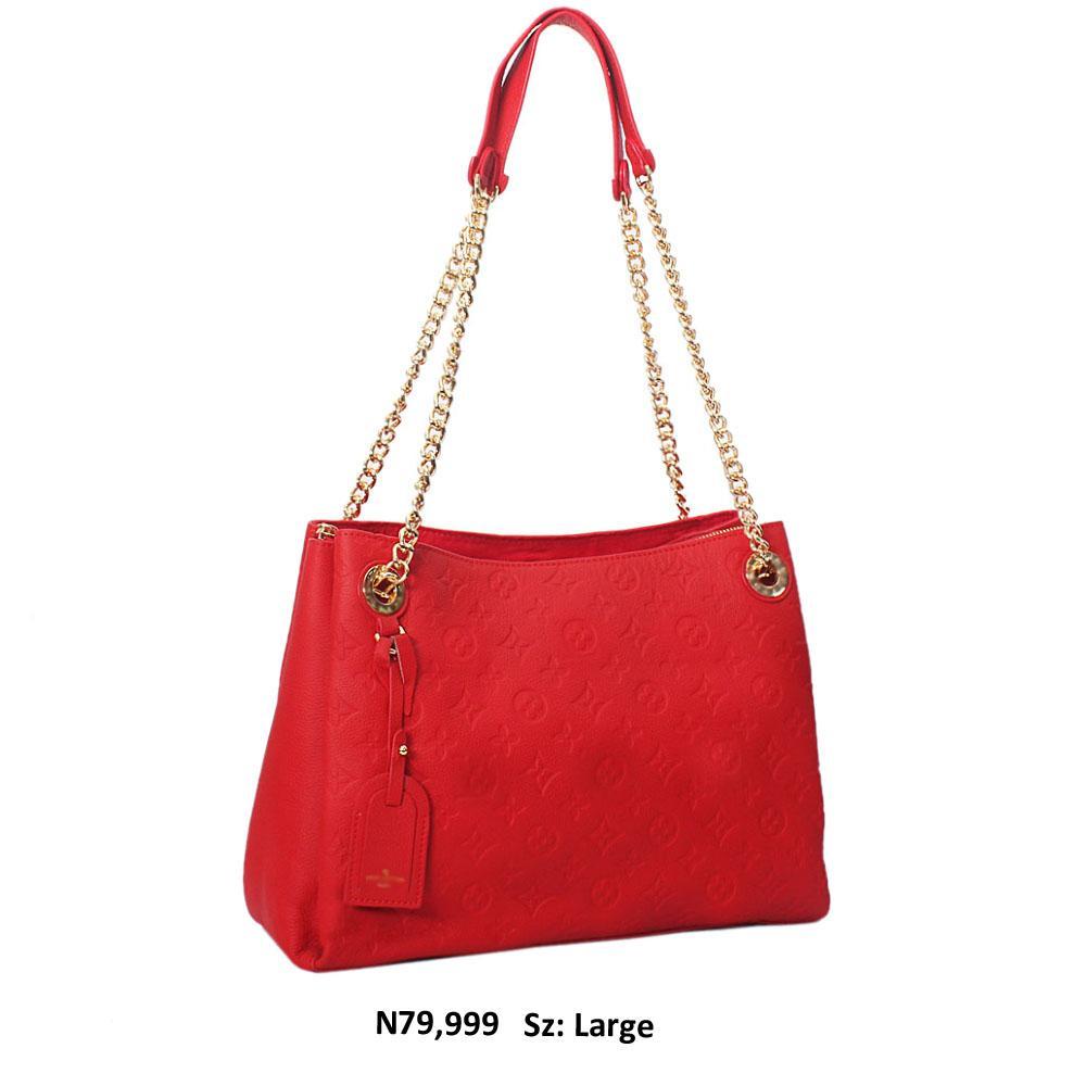 Red Briony Leather Shoulder Handbag