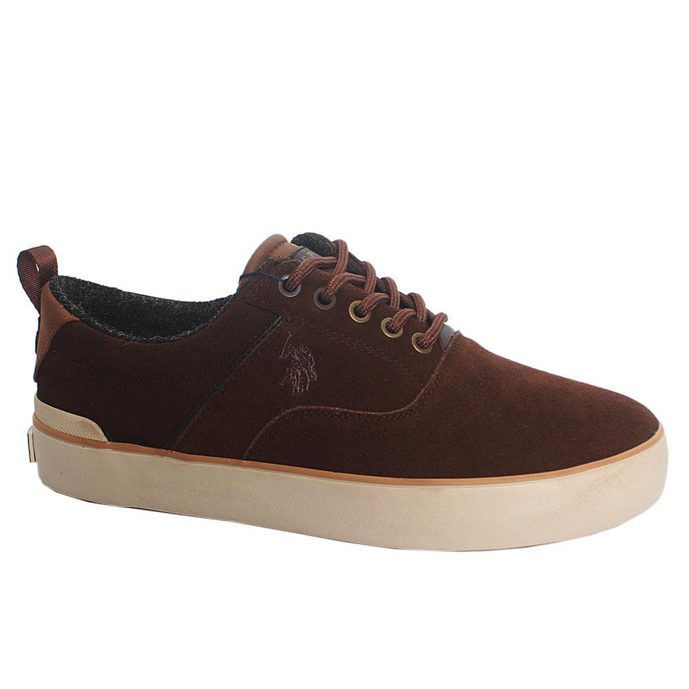 Brown Tybal Suede Leather Sneakers