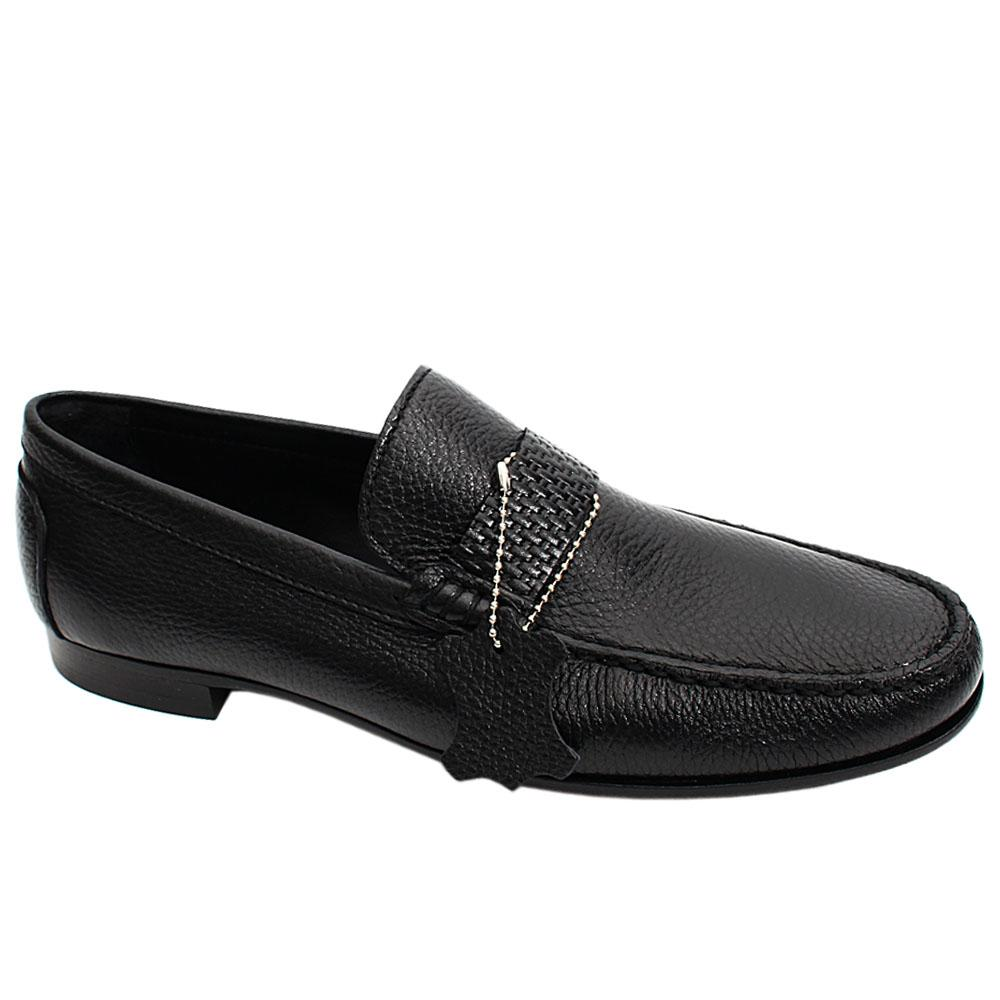 Black Deer Italian Leather Men Loafers