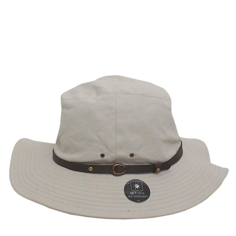 Grey Cotton Sun Protection Panama Sz S