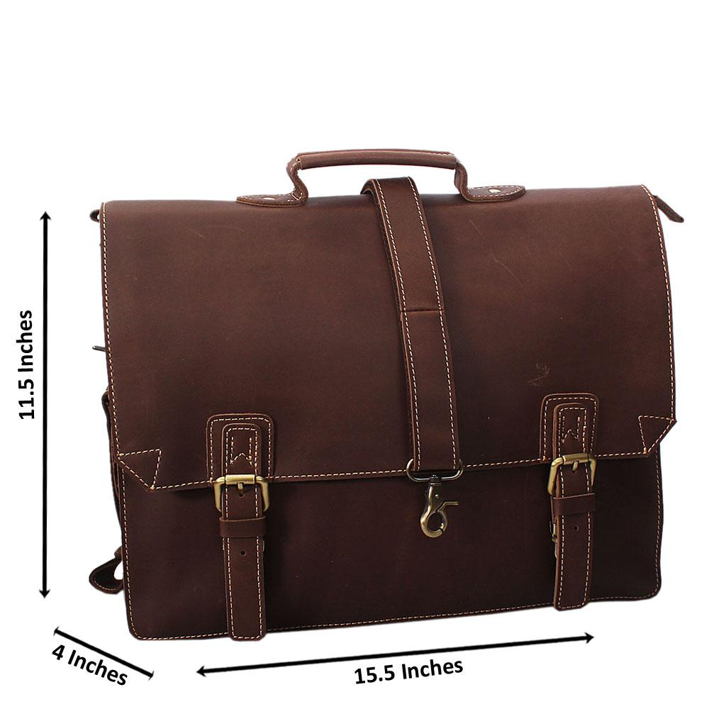 Light Brown Soft Leather Briefcase