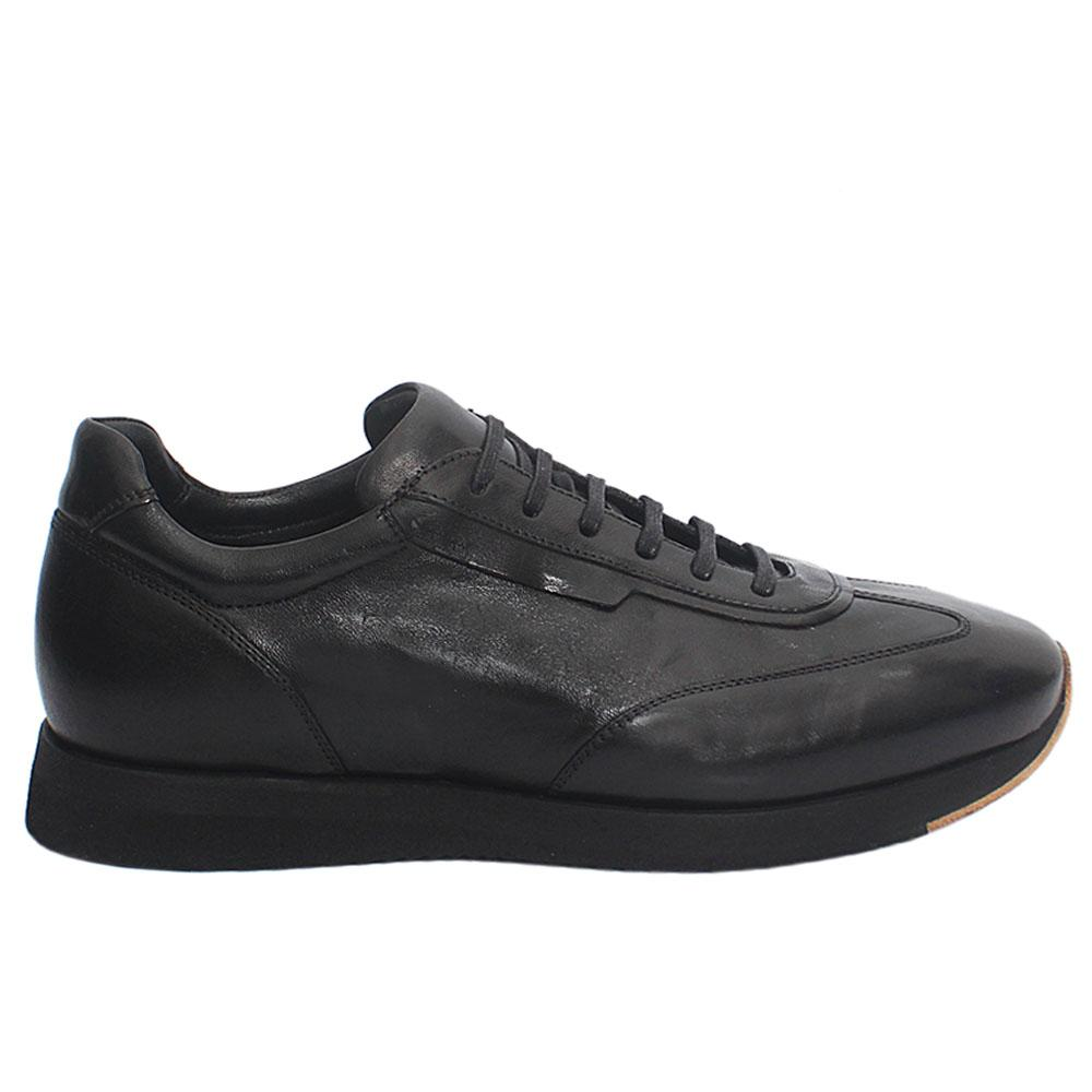 Black Taso Italian Leather Sneakers