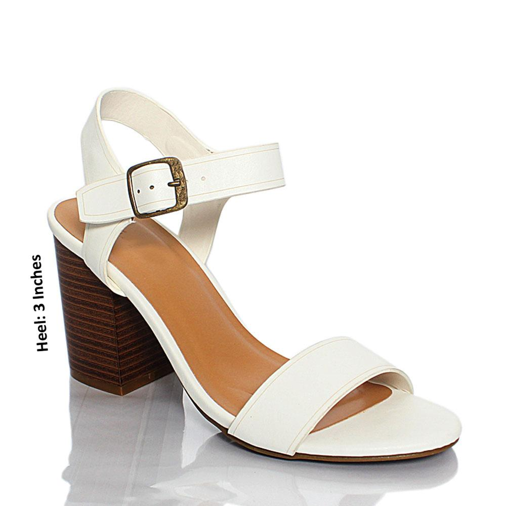 White BB Jenner Leather 3 Inch High Heel