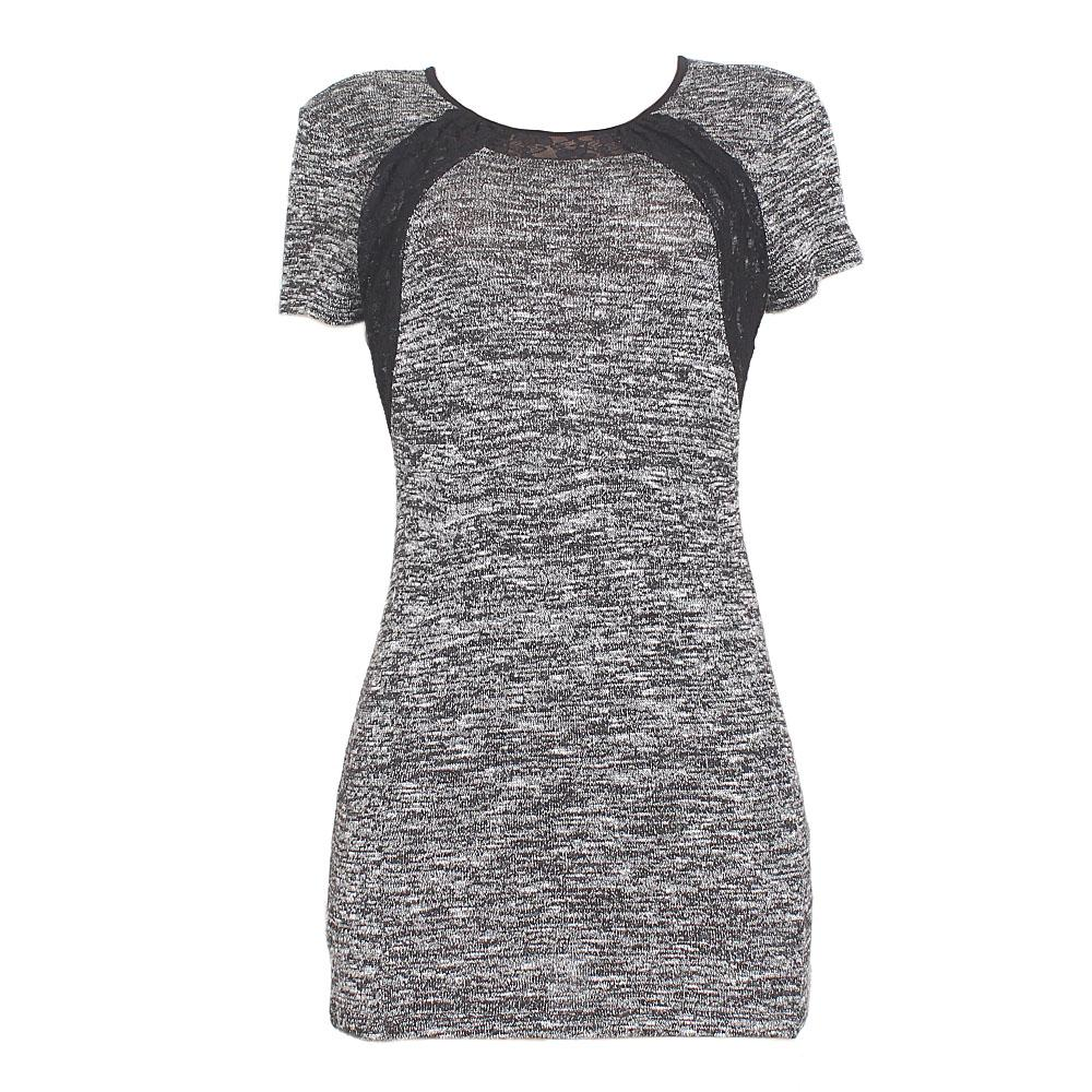 Style Plus Black-Gray Cotton ladies Short Dress-UK 10