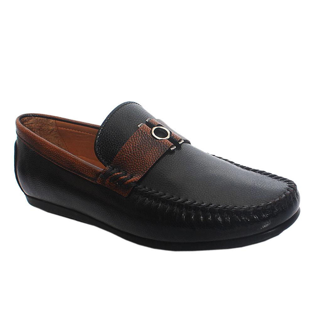 Black Nicola Italian Leather Drivers Shoe