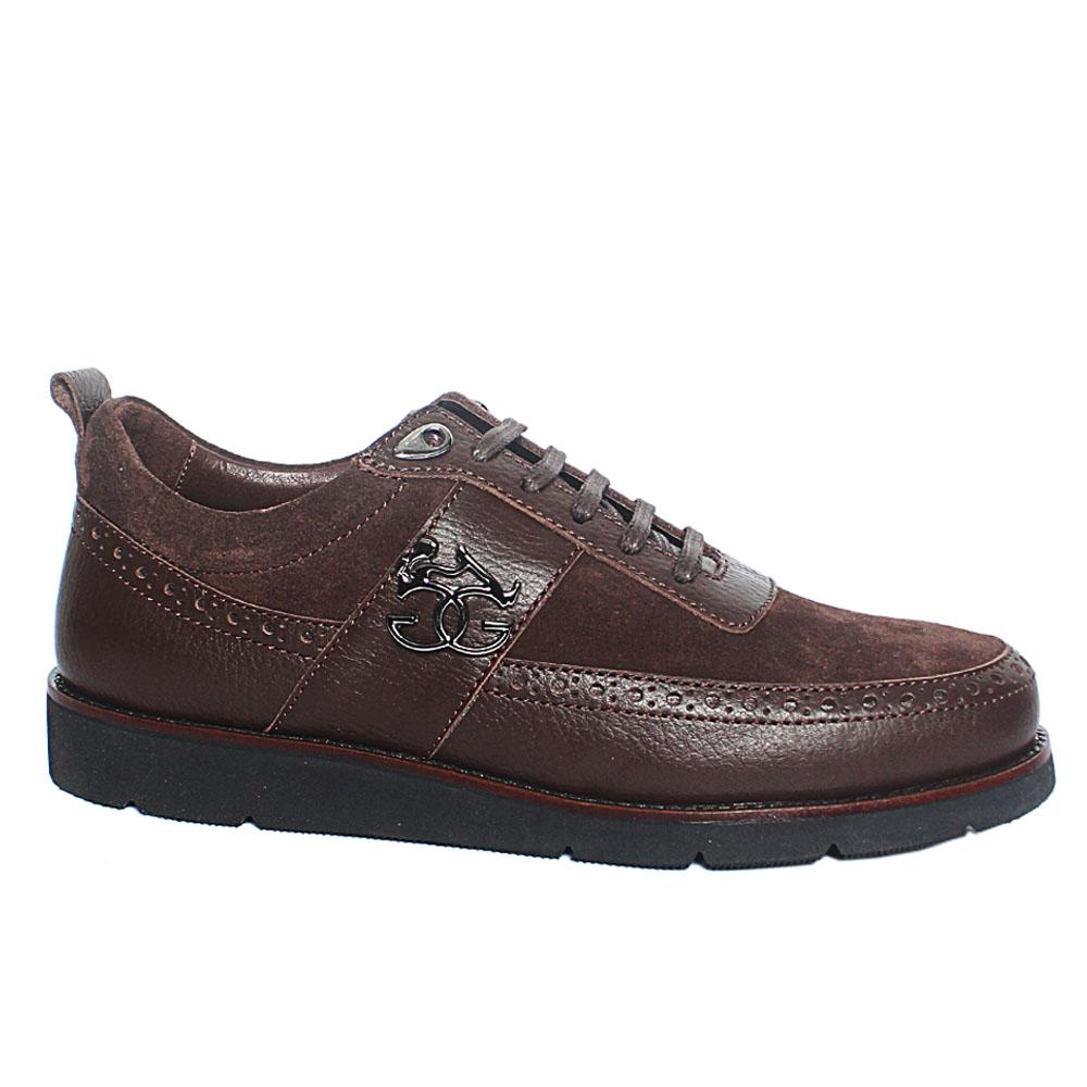Coffee Ambrogio Suede Italian Leather Sneakers