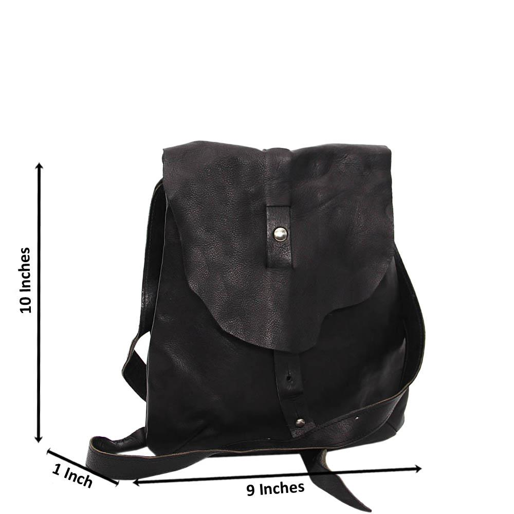 Black Louie Pure Leather Small Side Bag