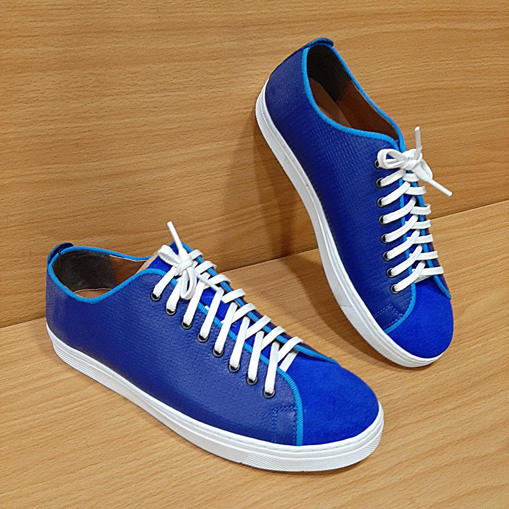Blue Edgard Suede Leather Sneakers