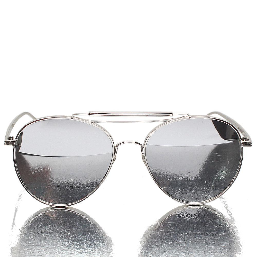 Silver Aviator Mirrored Lens Sunglasses