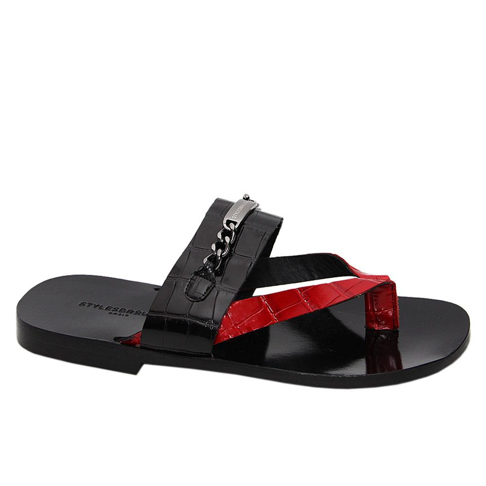 Black Wine Felipe Italian Leather Slippers