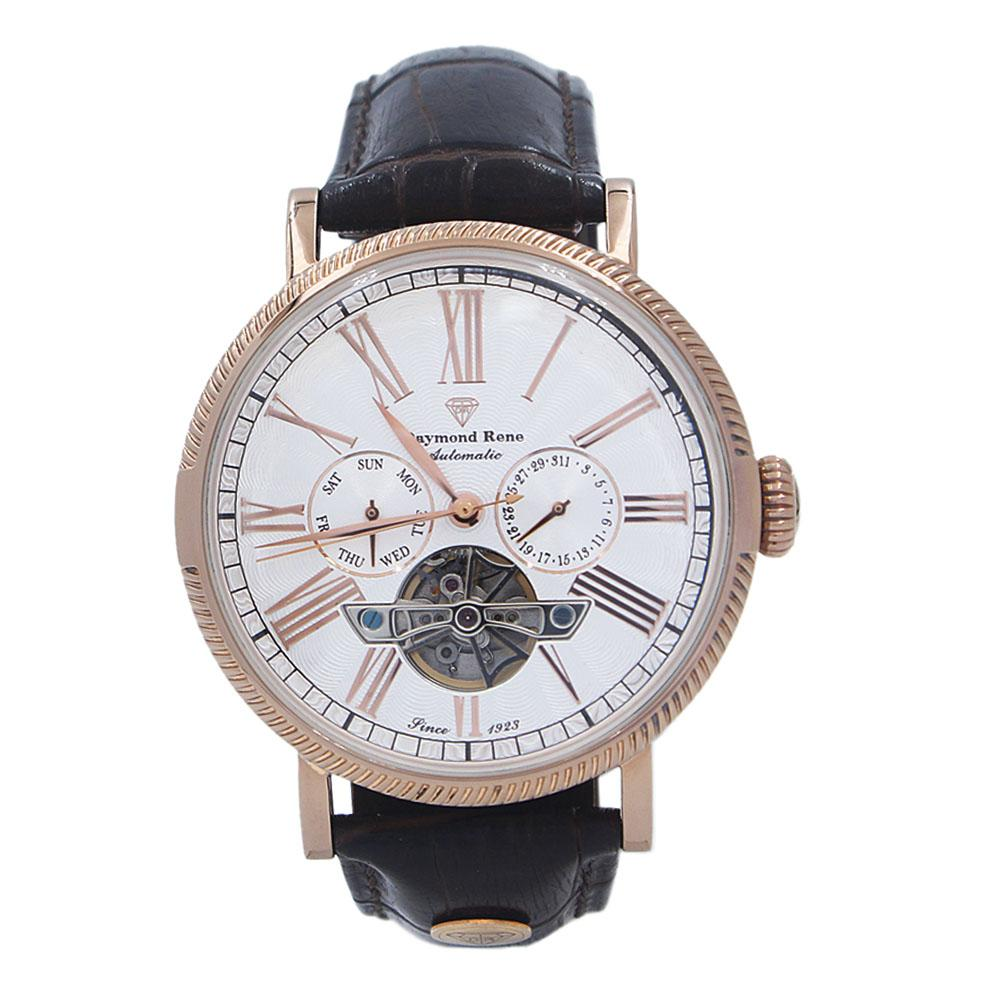 Coffee Rose Gold Leather Automatic Watch