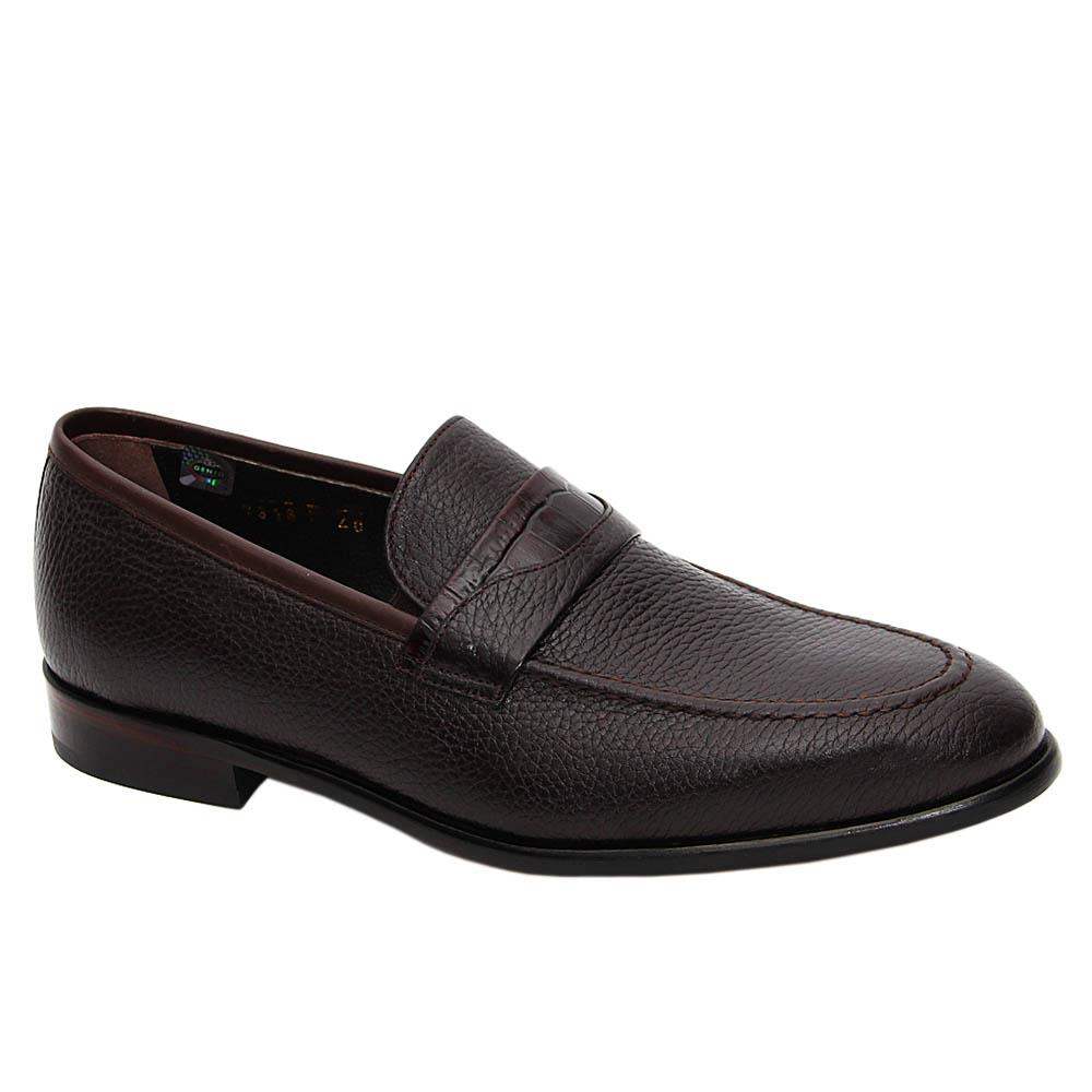 Coffee Vincenzo Italian Leather Loafers
