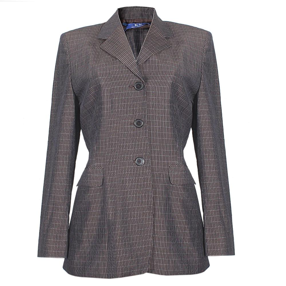 Selection Brown Mix Check Ladies Jacket Sz L