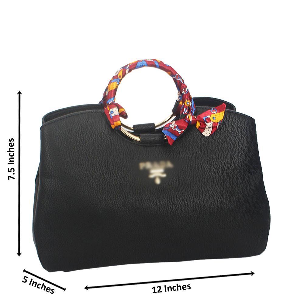 Layla Black Montana Leather Tote Handbag