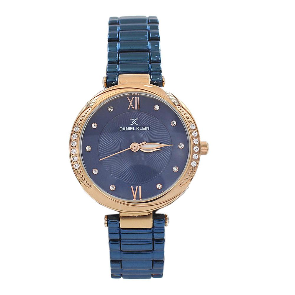 Daniel Klein Classic Blue Studded Stainless steel Ladies Watch