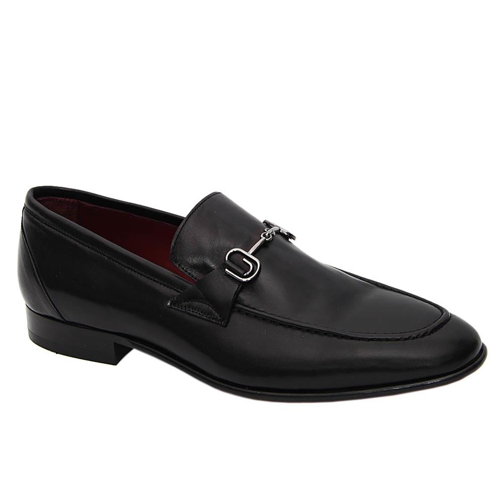 Black Gilberto Italian Soft Leather Loafers