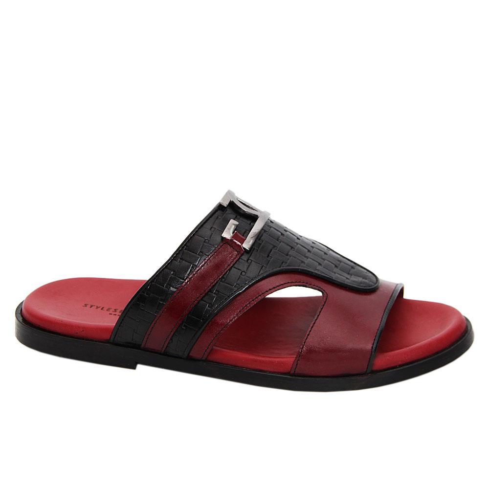 Wine Black Vanni Italian Leather Slippers