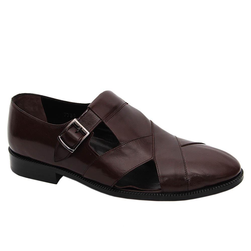 Coffee Thales Italian Soft Leather Fisherman Sandals