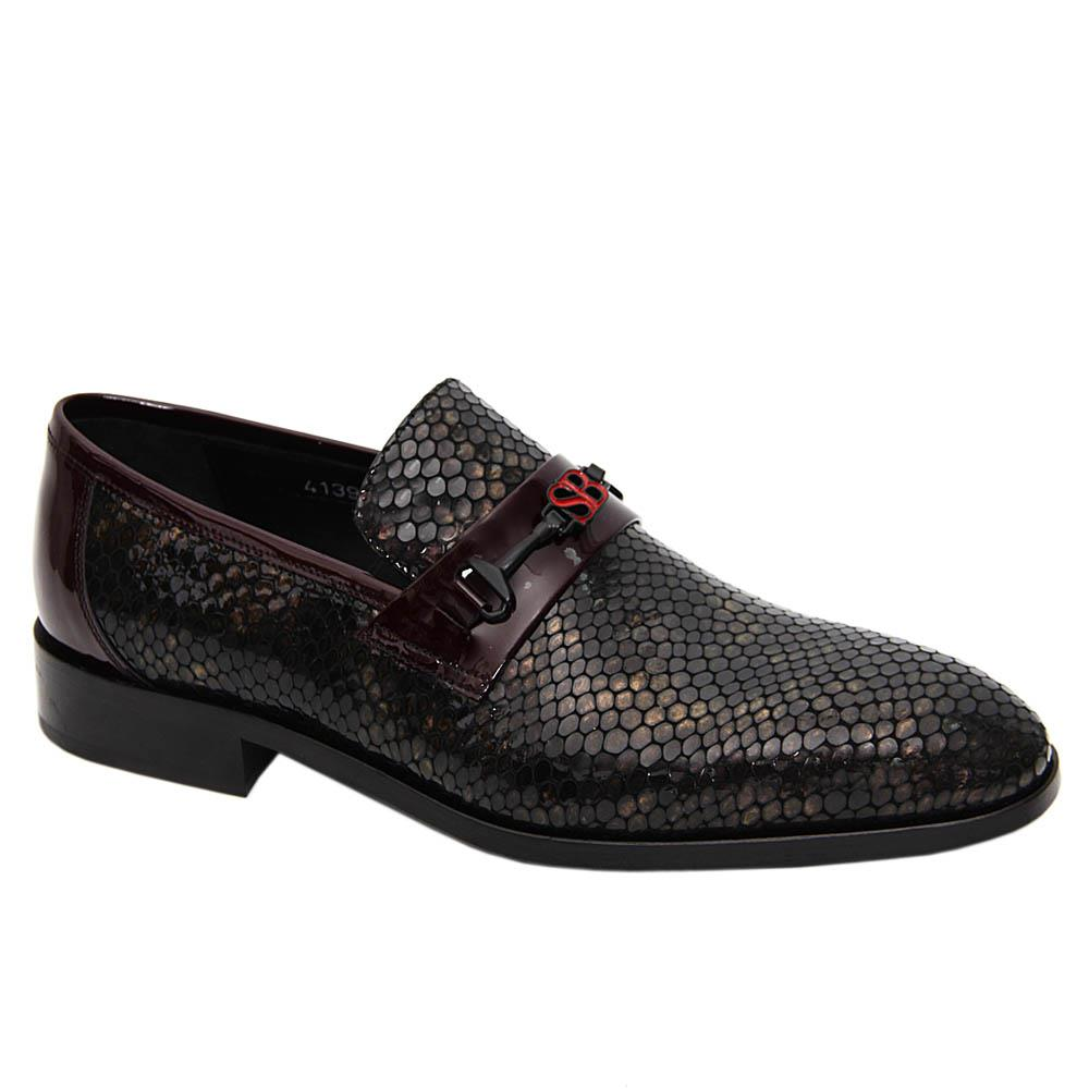 Coffee Giovanni Patent Italian Leather Loafers