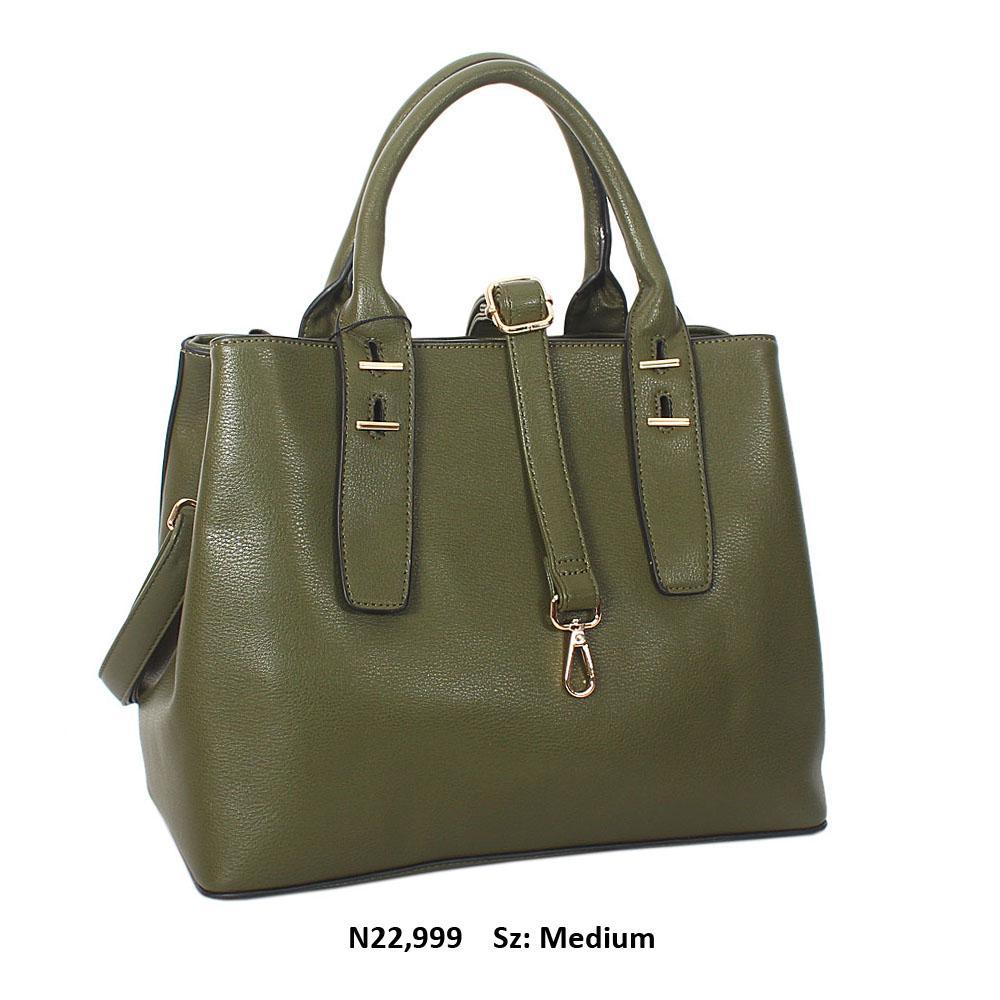 Green Lorraine Leather Tote Handbag